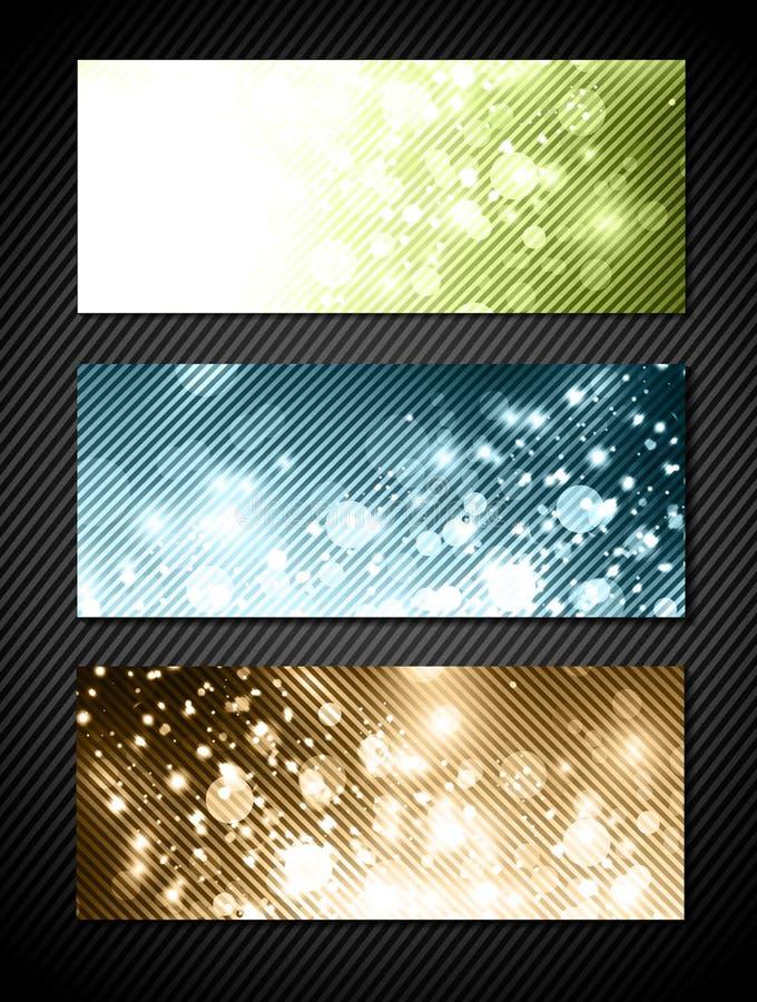 Download Bright Banner Set stock vector. Image of design, effect - 29142711