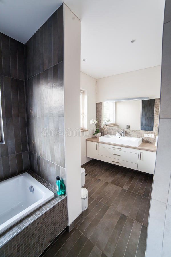 Bright bathroom with sink and wc