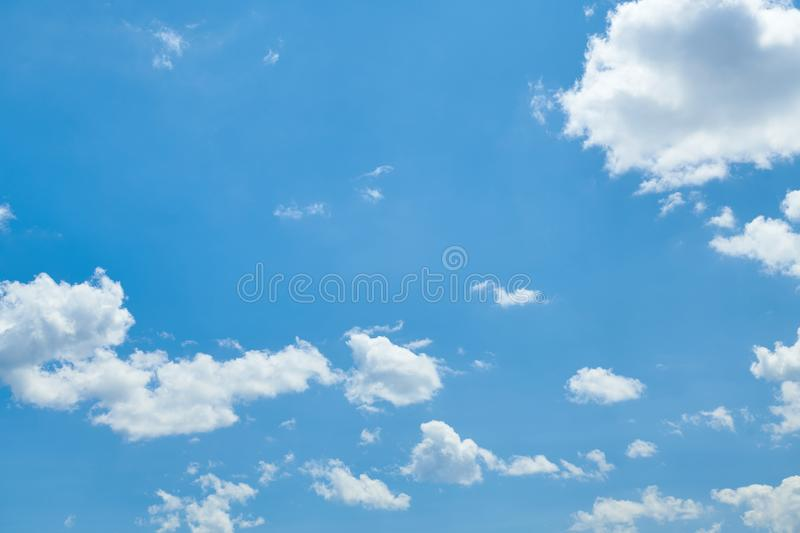 Bright beautiful blue sky with clouds for background or texture royalty free stock image