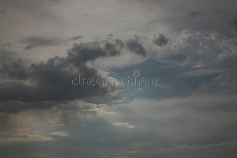 Bright beautiful sky and clouds as pictures. stock image