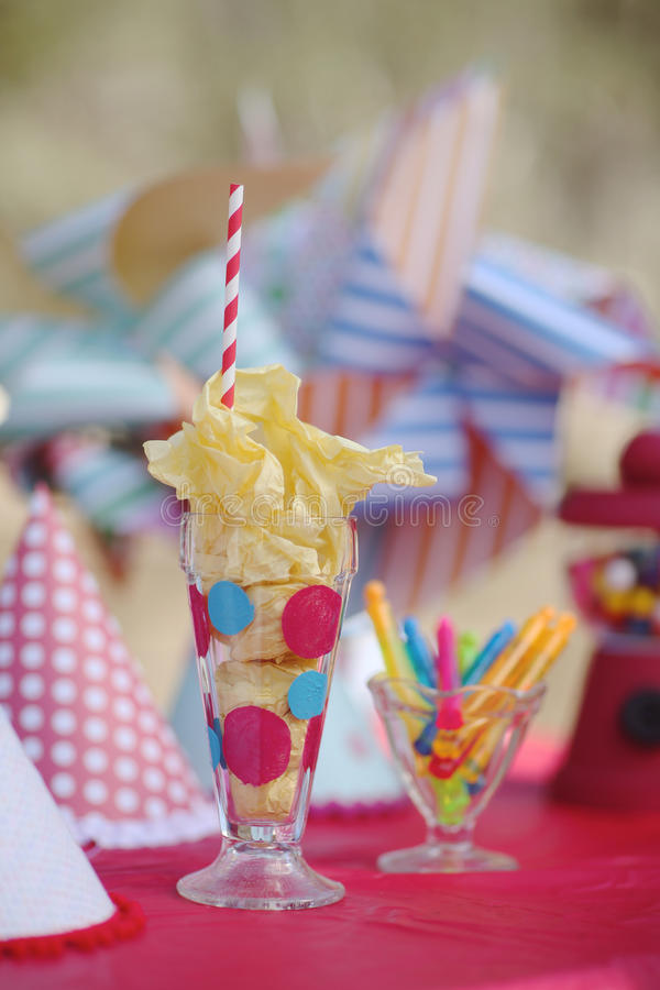 Bright Birthday Party Celebration Decorations royalty free stock images
