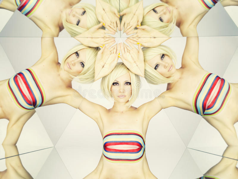 Download Bright Blonde In Kaleidoscope Stock Photo - Image of lovely, kaleidoscope: 23570970