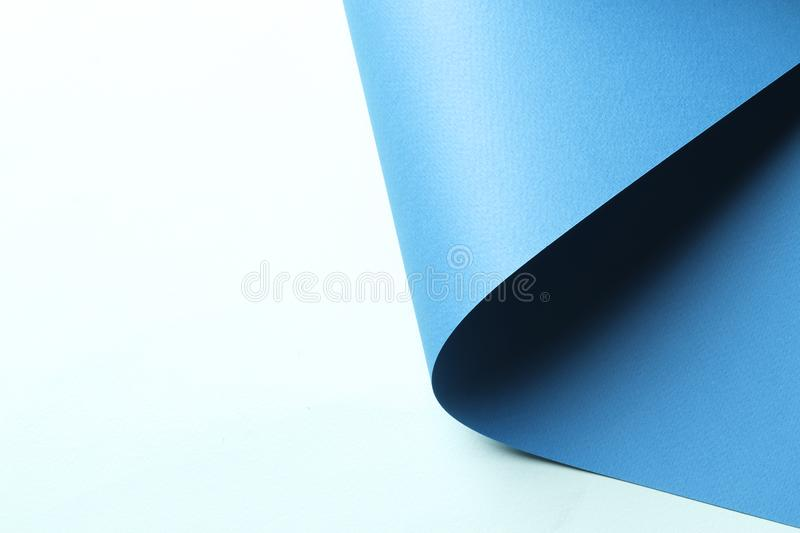 Bright Blue Abstract Blank Paper Background Stock Image Image Of