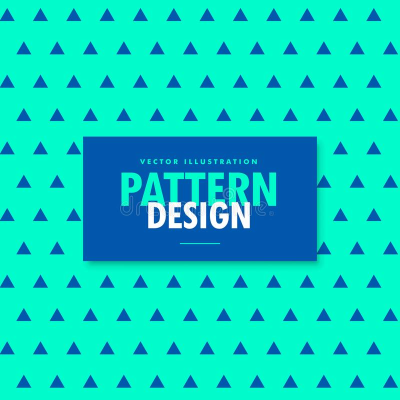 Bright blue background with triangle patterns vector illustration