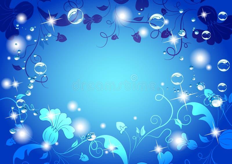 Bright blue flower background royalty free illustration
