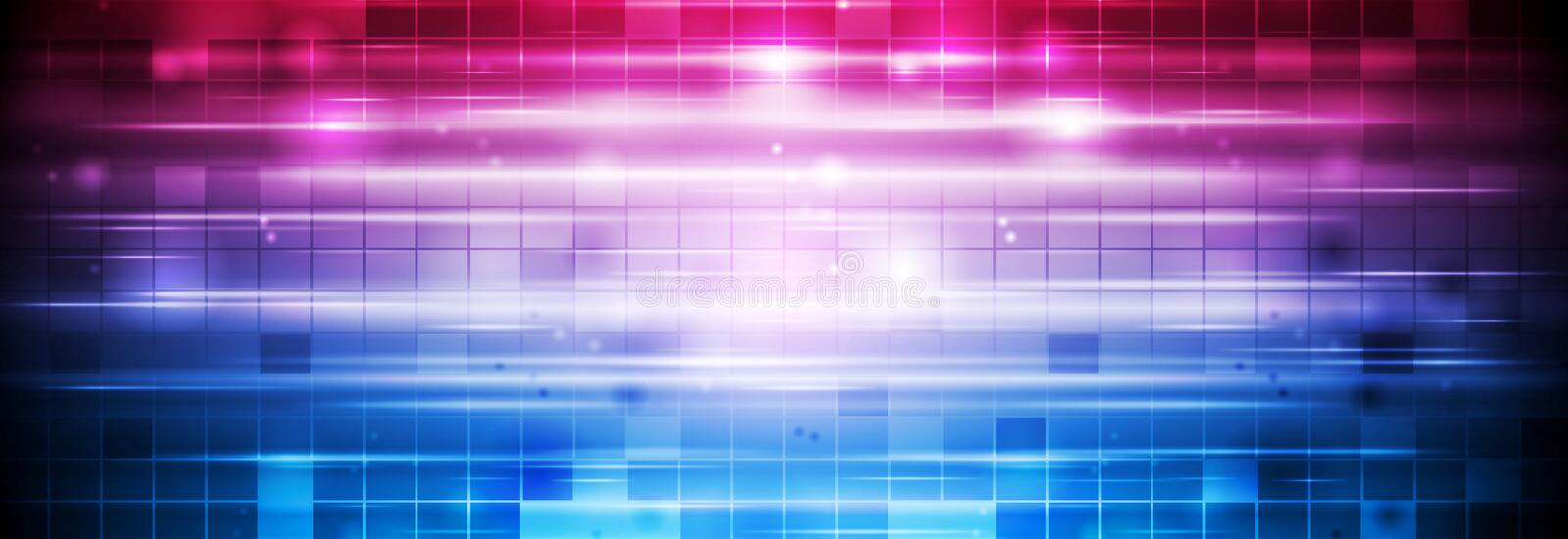 Bright blue purple abstract shiny geometric background vector illustration