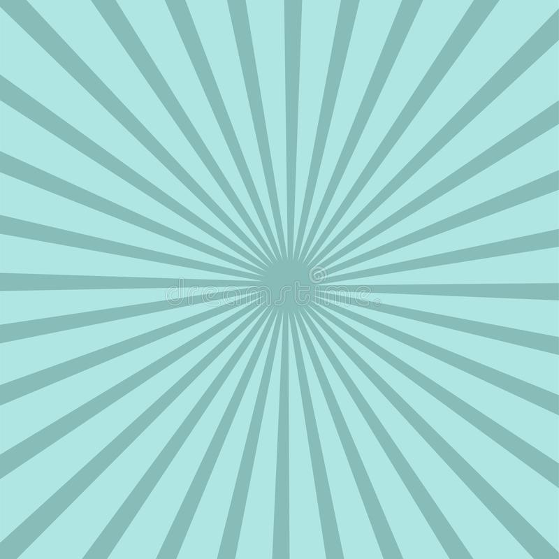 Bright blue rays background. Twister effect. vector illustration