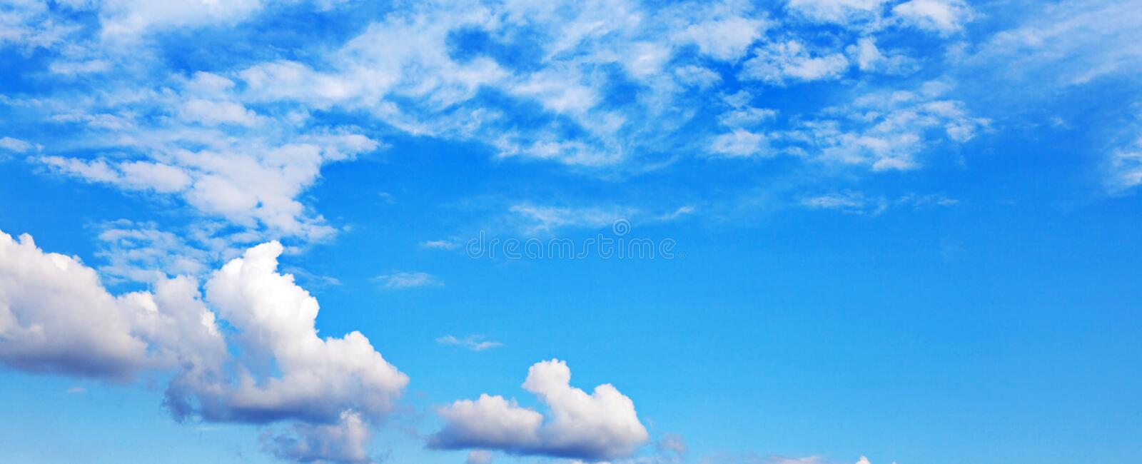 Download Bright blue sky stock photo. Image of cloudy, fleecy - 12101944