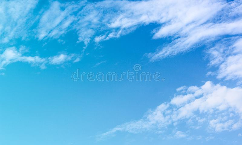 Bright blue sky background with white clouds group patterns and copy space. Close up Bright blue sky background with white clouds group patterns and copy space stock images