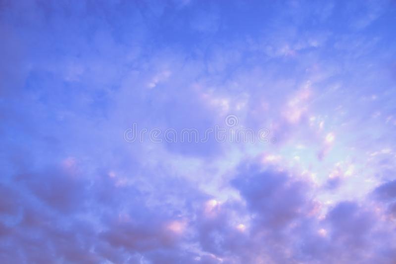 Bright blue sky and cloud. stock image