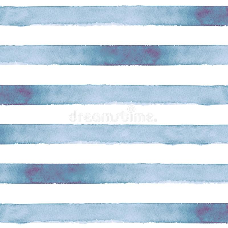 Striped watercolor background hand painted vector illustration