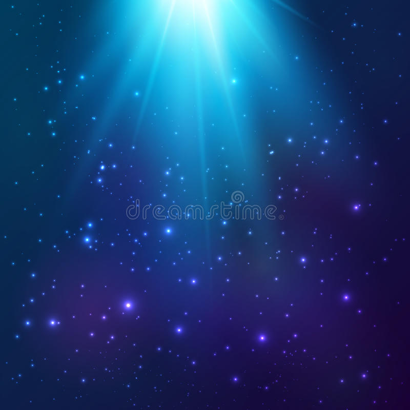 Download Bright Blue Vector Cosmic Light Background Stock Vector - Image: 40697501