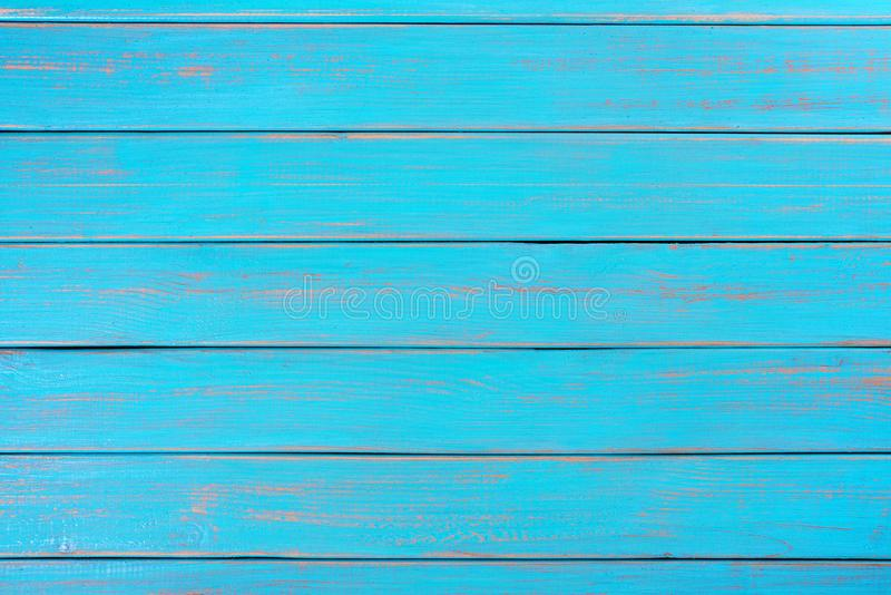 Bright blue wood background summer beach deck wooden surface plank. Bright blue wood background summer beach deck stock photos