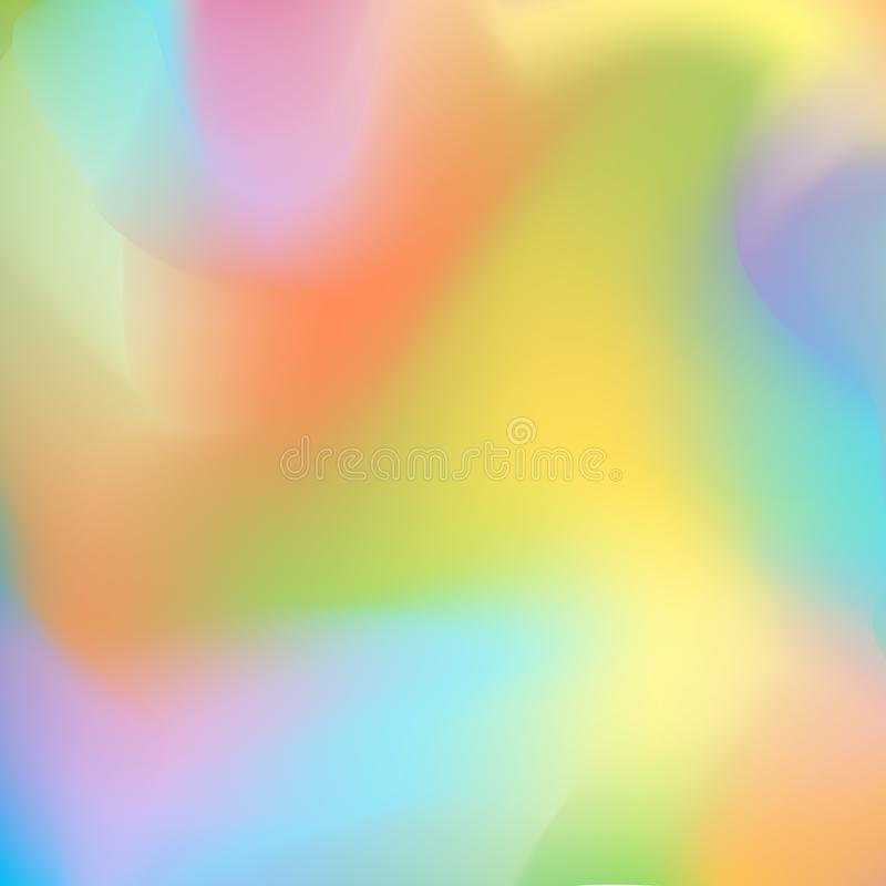 Bright blurred background with flowing smooth lines, orange, yellow-green and purple-blue gradient transitions royalty free illustration