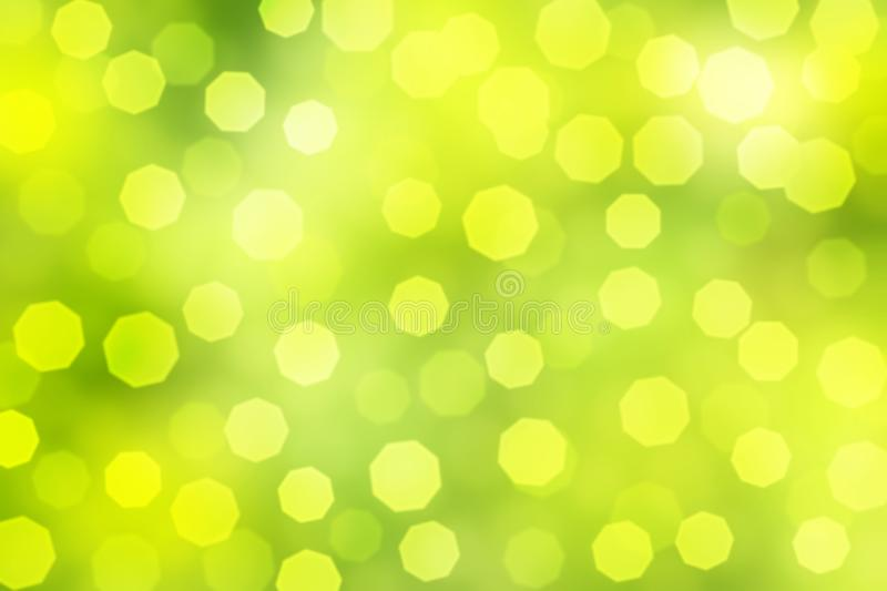 Bright Bokeh in Green and Yellow Background royalty free stock photography