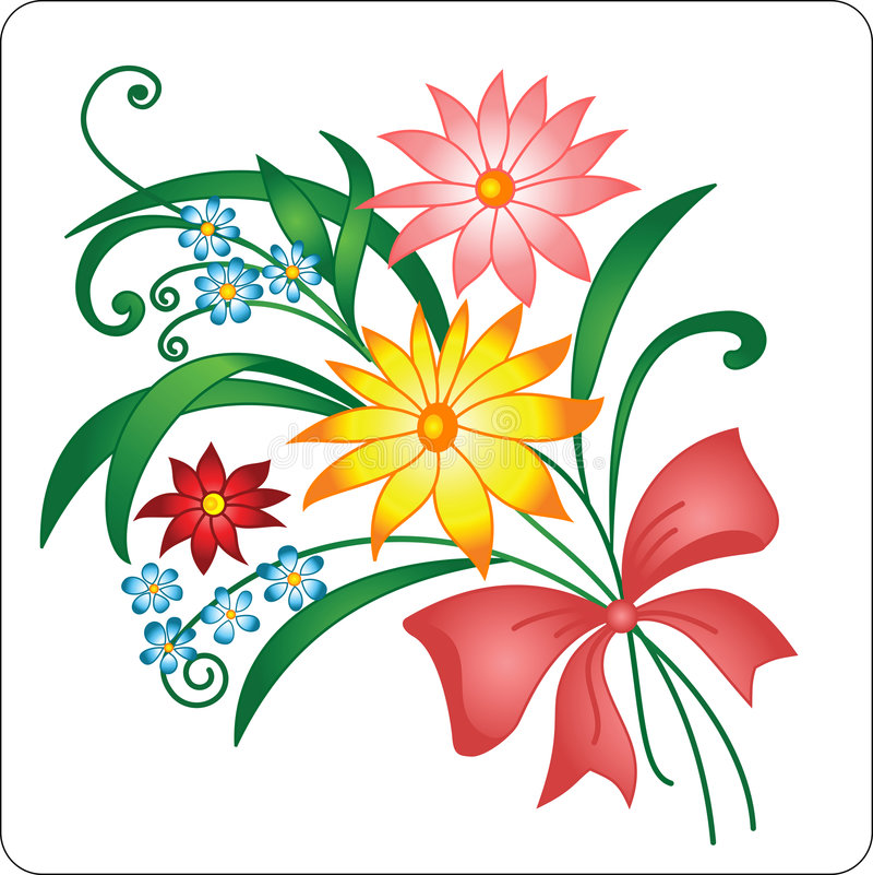 Download Bright Bouquet From Multi-coloured Colors. Stock Photo - Image: 5400830