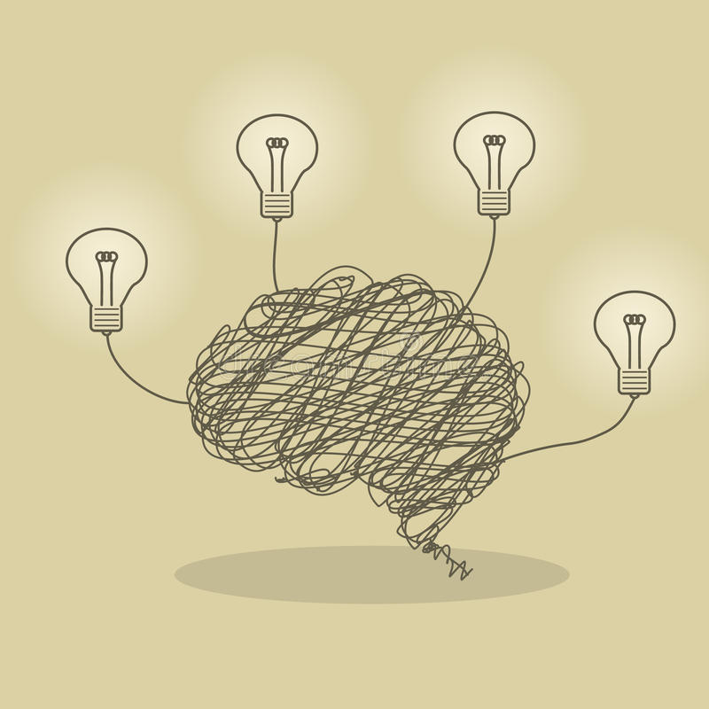 Bright Brain stock illustration