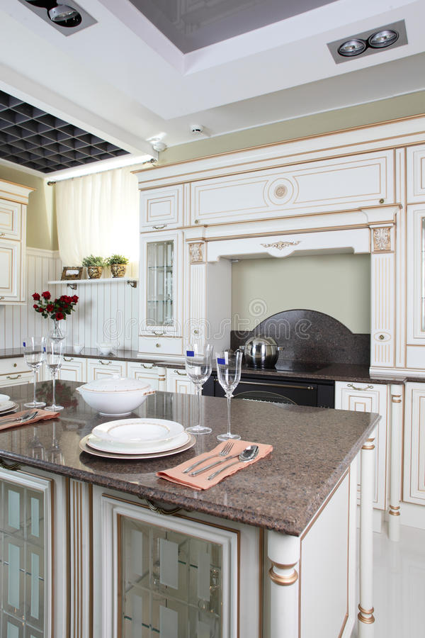 Download Bright Brand New European Kitchen Stock Photo - Image of apartment, cabinets: 26878190