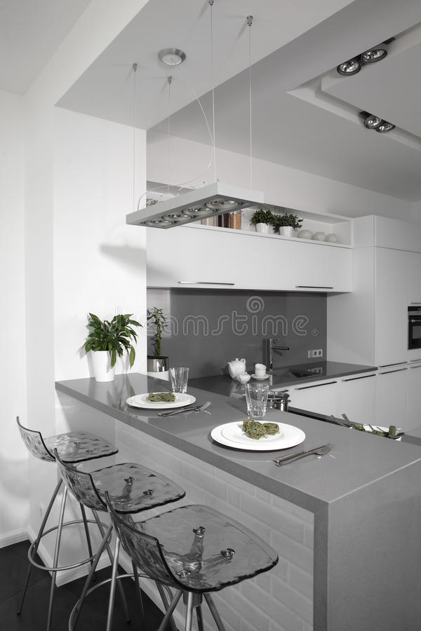 Download Bright Brand New European Kitchen Stock Photo - Image of investment, cabinets: 26878242