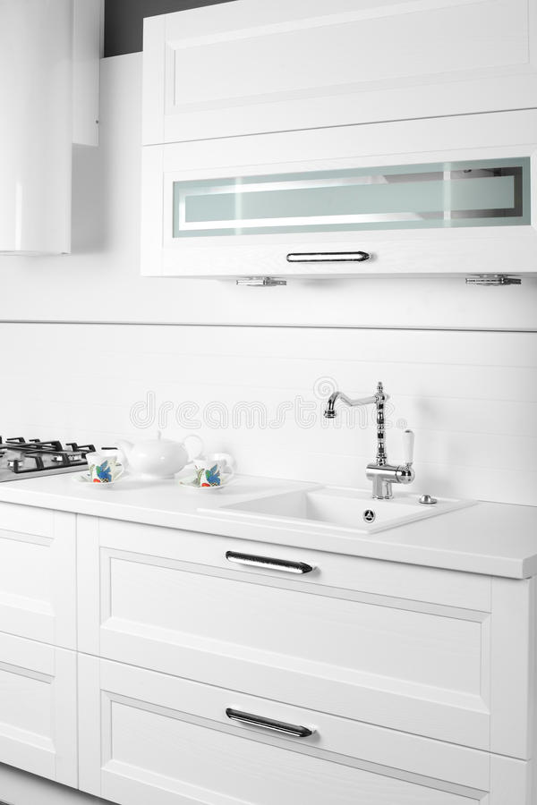 Download Bright Brand New European Kitchen Stock Image - Image: 34488615