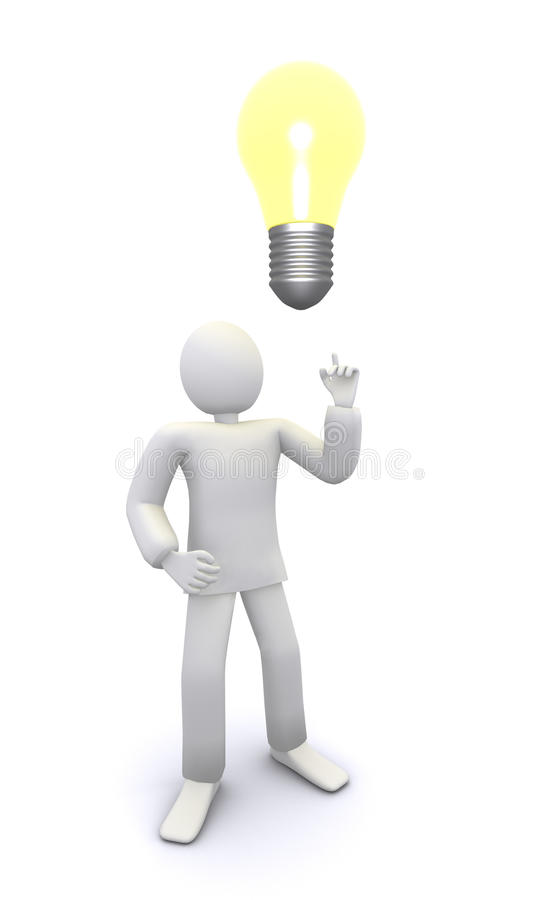 Bright bulb idea royalty free illustration