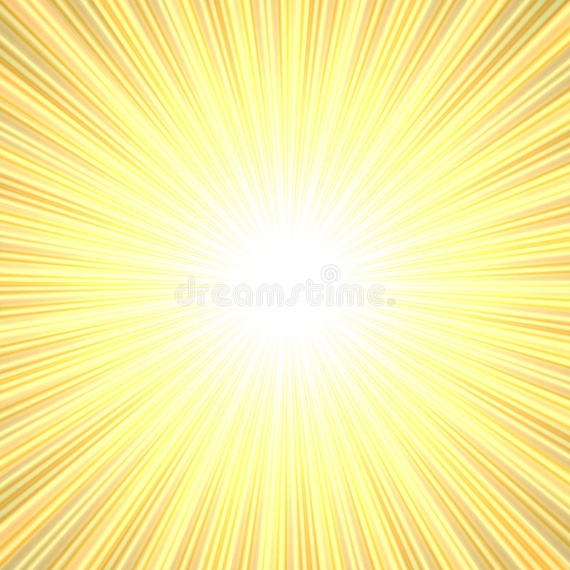 Bright burst. Yellow and orange bright burst of color rays with white in the middle royalty free illustration