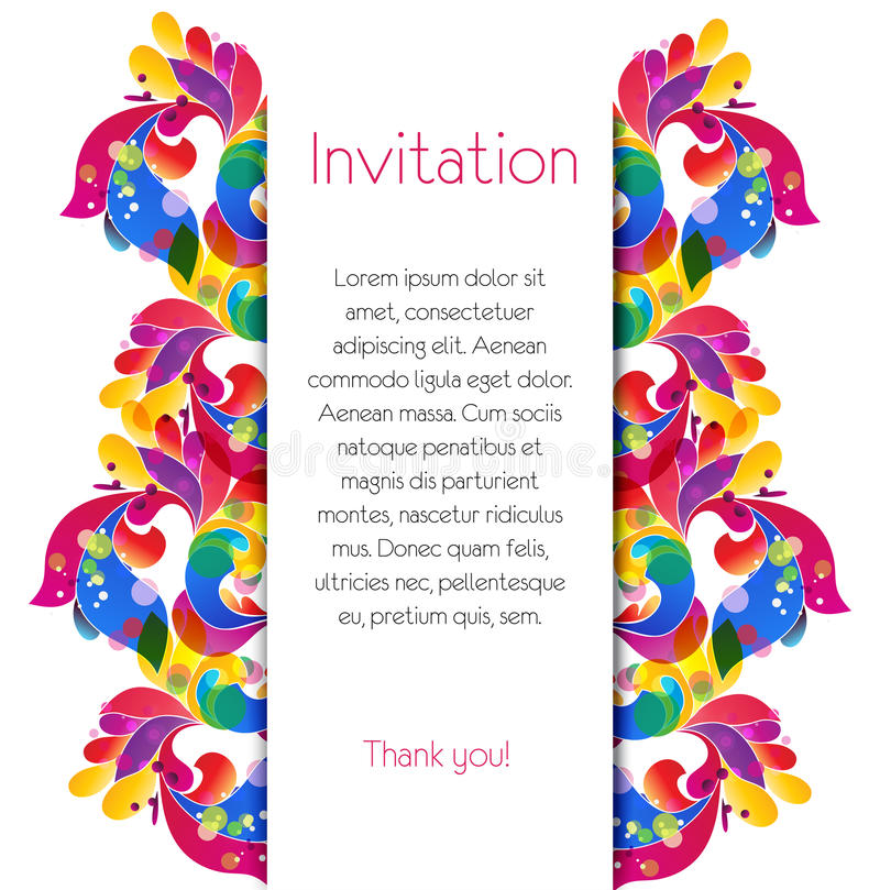 Bright card template with place for the text. Abstract boarder. vector illustration vector illustration