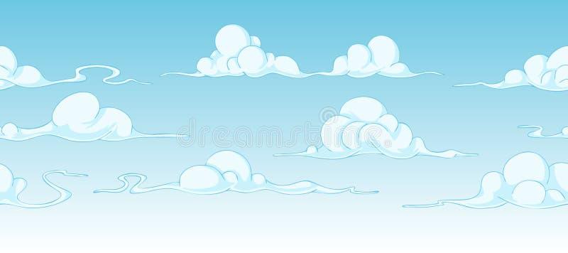 Bright cartoon clouds vector illustration