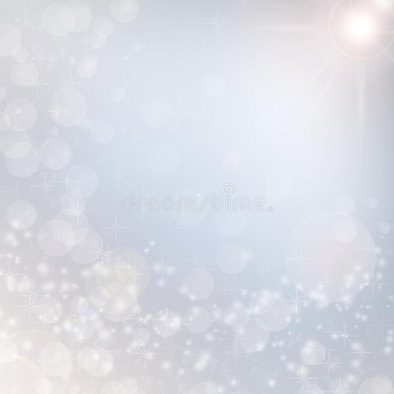 Bright christmas background white lights snowflake