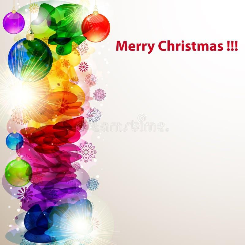 Bright Christmas border with snowflakes. royalty free stock photo