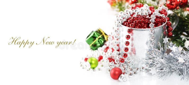 Bright christmas composition stock photos