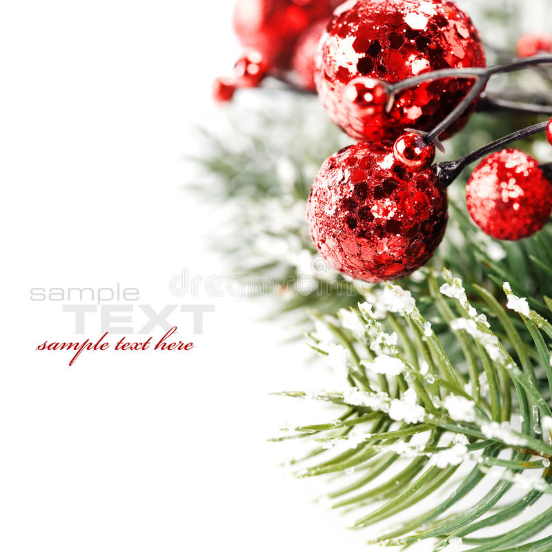 Bright christmas composition stock photo