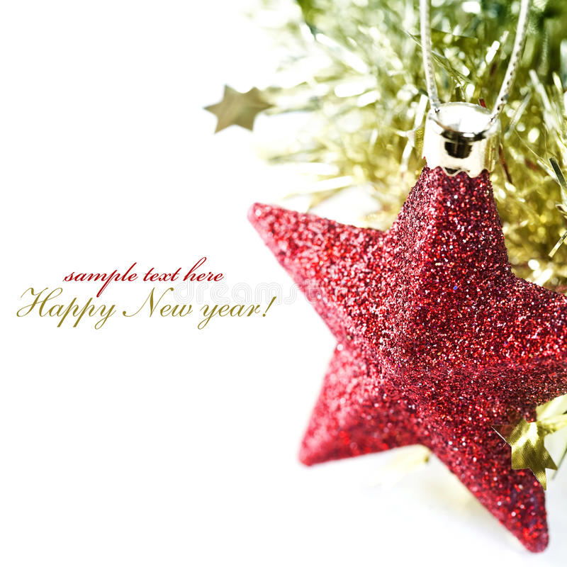 Bright christmas composition with stars royalty free stock photos