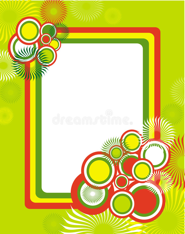 Bright circle frame royalty free illustration