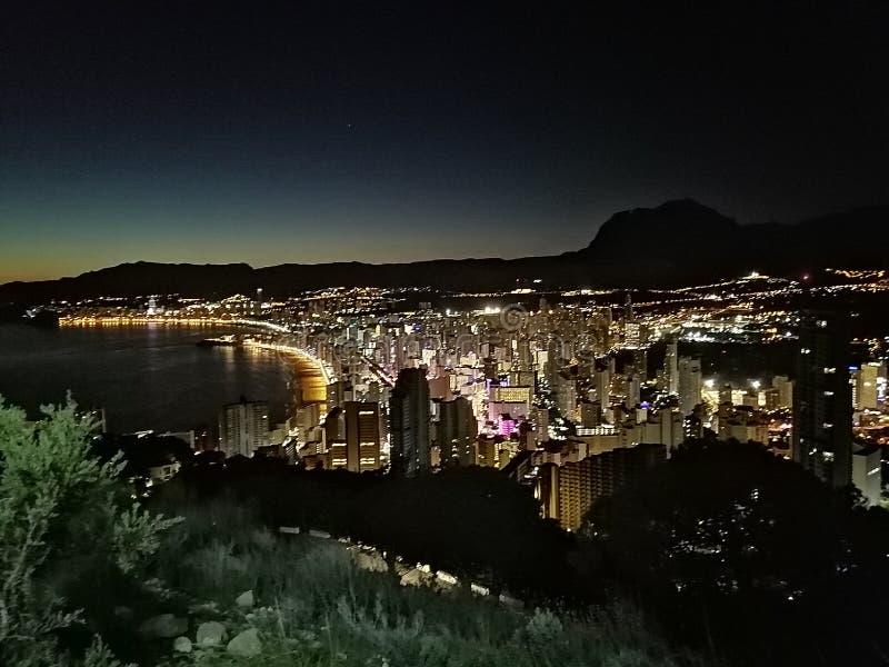 Bright city lights royalty free stock image