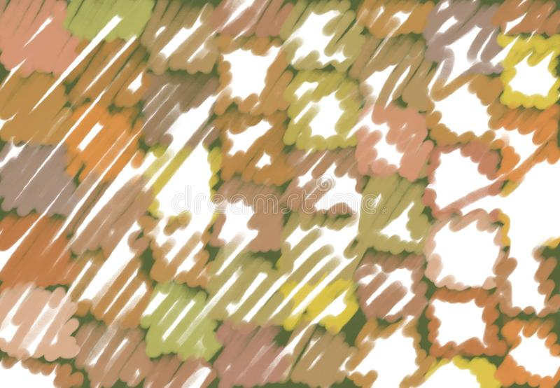 Bright clay and earth colours chalk tones royalty free illustration