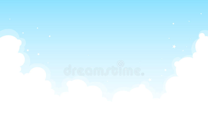 Bright Cloud Background Stock Images