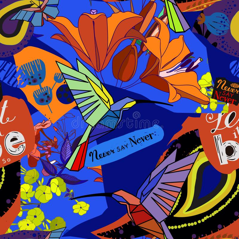 Bright collage stock illustration