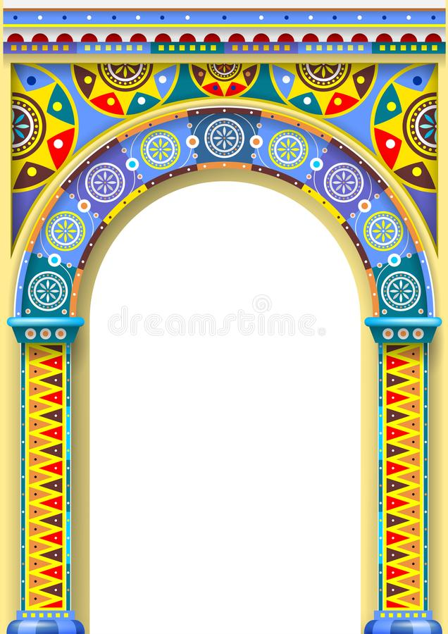 Bright color arch of the carousel royalty free illustration