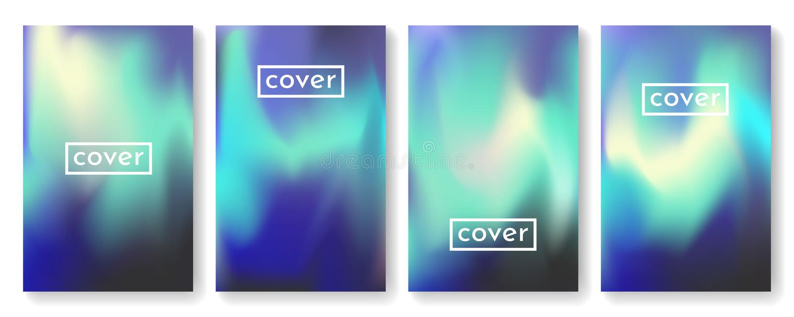 Bright color background with mesh gradient texture for brochure, leaflet, flyer, cover, catalog. Blue, pink, yellow, green placard royalty free illustration
