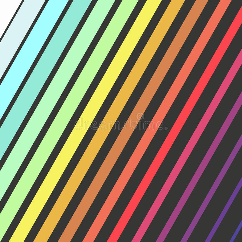 Bright color diagonal rectangles, colorful design with geometric rectangular shapes stock illustration