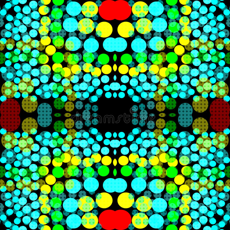 Bright colored circles on a dark background geometric background vector illustration