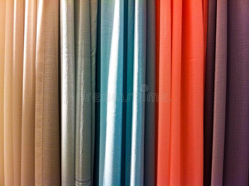 Download Bright Colored Curtains stock image. Image of curtain - 43512067