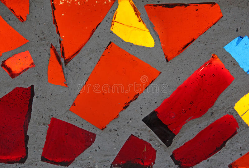 Bright colored stained glass windows stock image