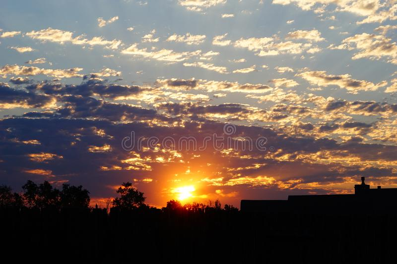 Bright colored sunrise royalty free stock images