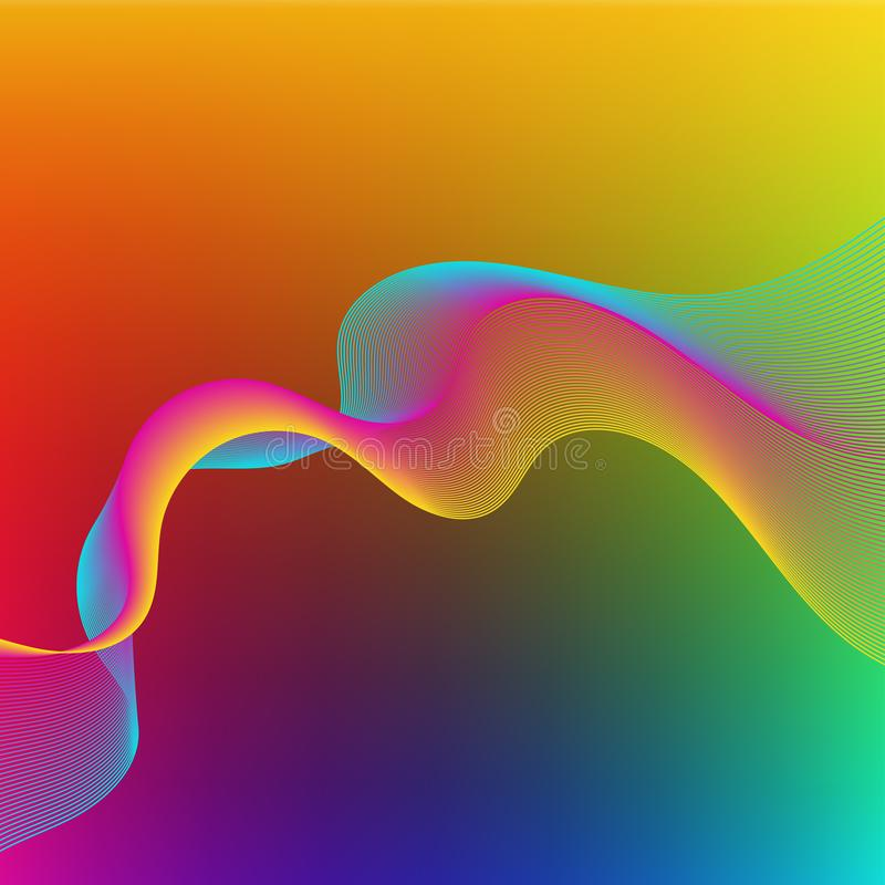 Bright colorful abstract background royalty free illustration