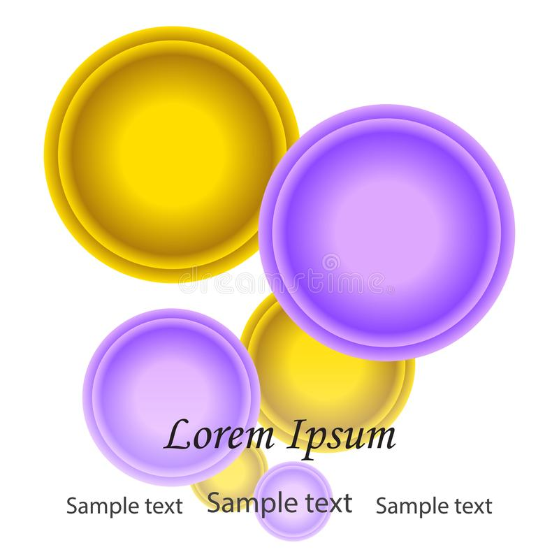 Bright colorful abstract paint circles with space for text.Lilac vector illustration