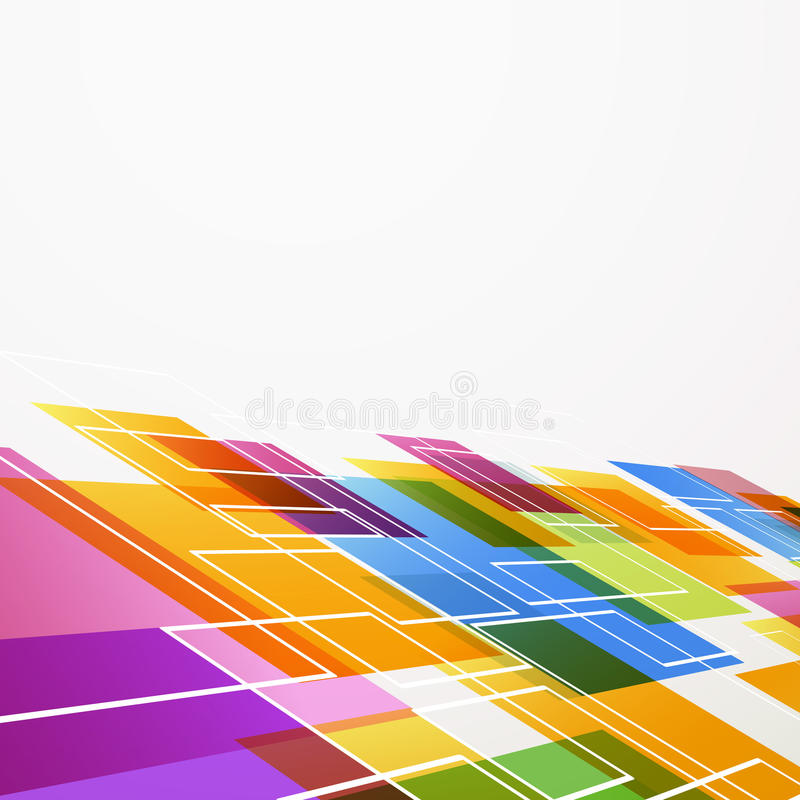 Bright colorful abstract tile background. Vector illustration stock illustration