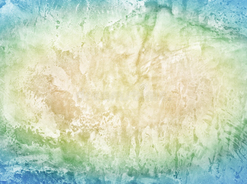 Bright colorful blue yellow grunge cement wall. Background royalty free illustration