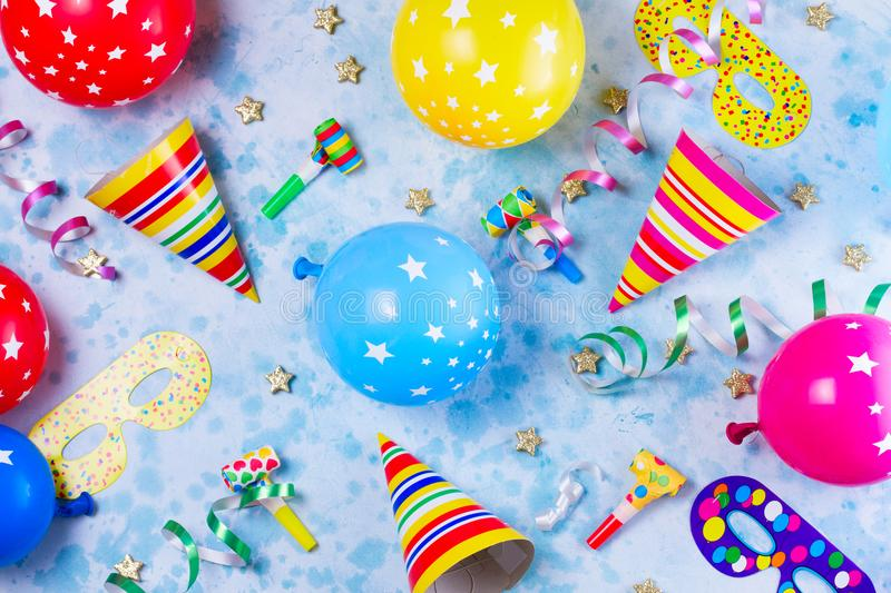 Bright colorful carnival or party scene stock photography